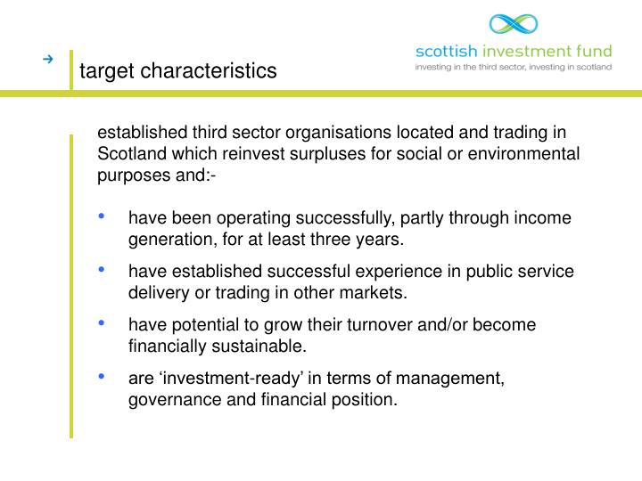 Target characteristics