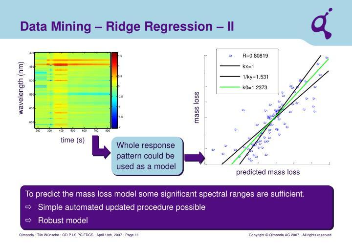 Data Mining – Ridge Regression – II