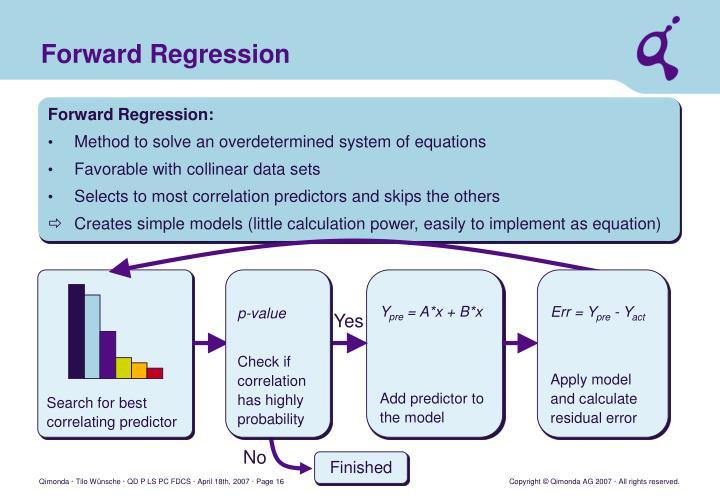 Forward Regression