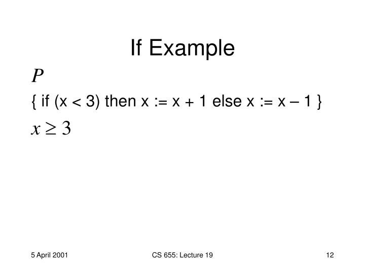If Example