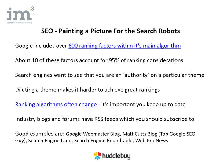 SEO - Painting a Picture For the Search Robots