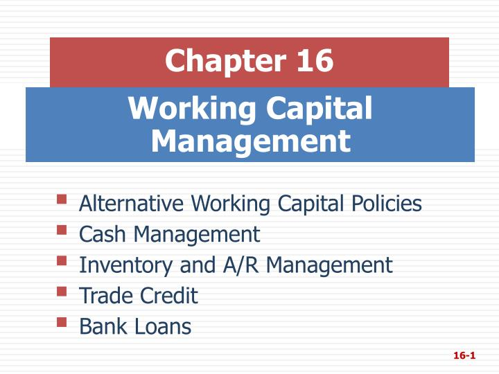 working capital management n.