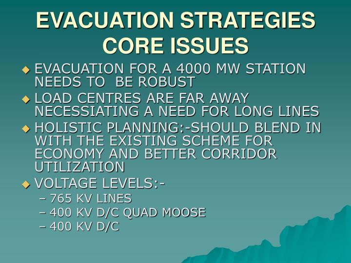 EVACUATION STRATEGIES