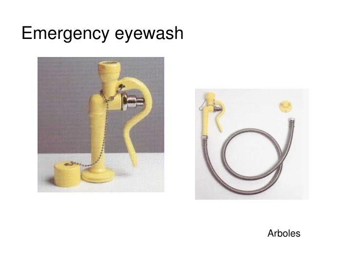 Emergency eyewash