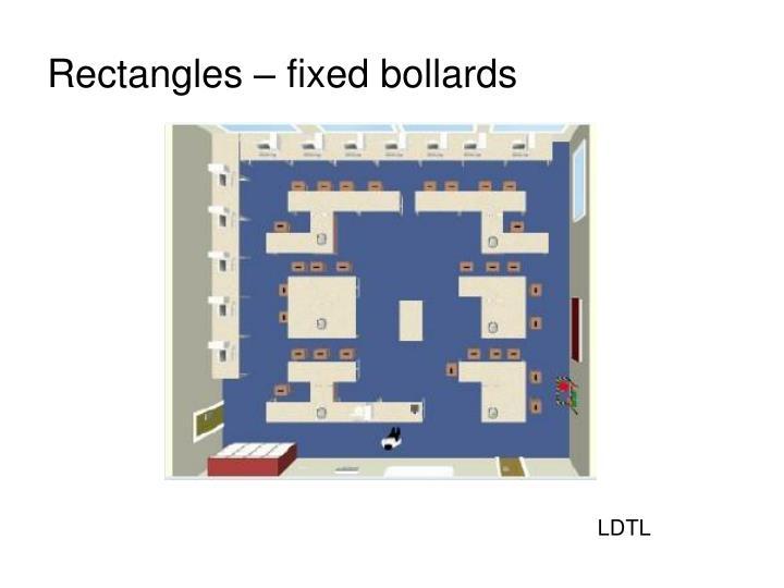 Rectangles – fixed bollards