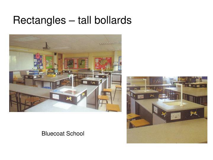 Rectangles – tall bollards