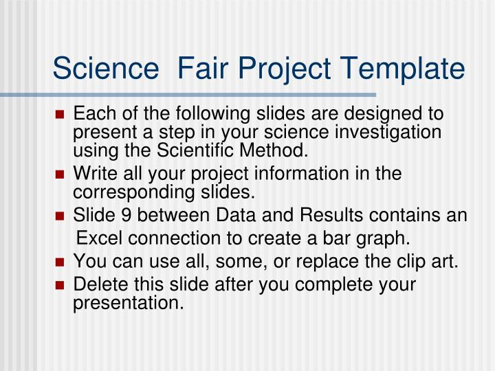 science fair project template n.