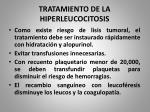 tratamiento de la hiperleucocitosis