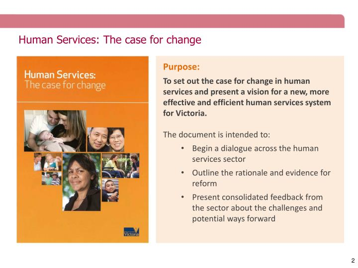 Human services the case for change1