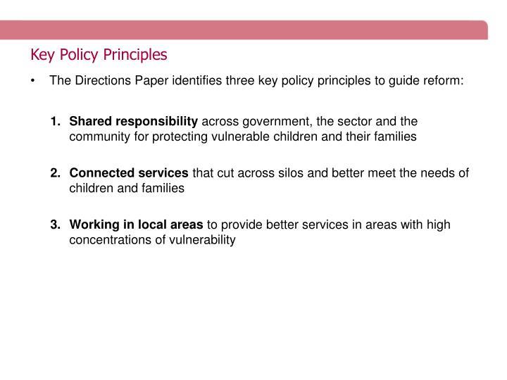 Key Policy Principles