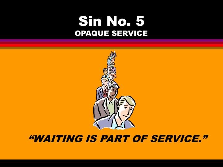 Sin No. 5