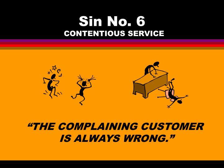 Sin No. 6