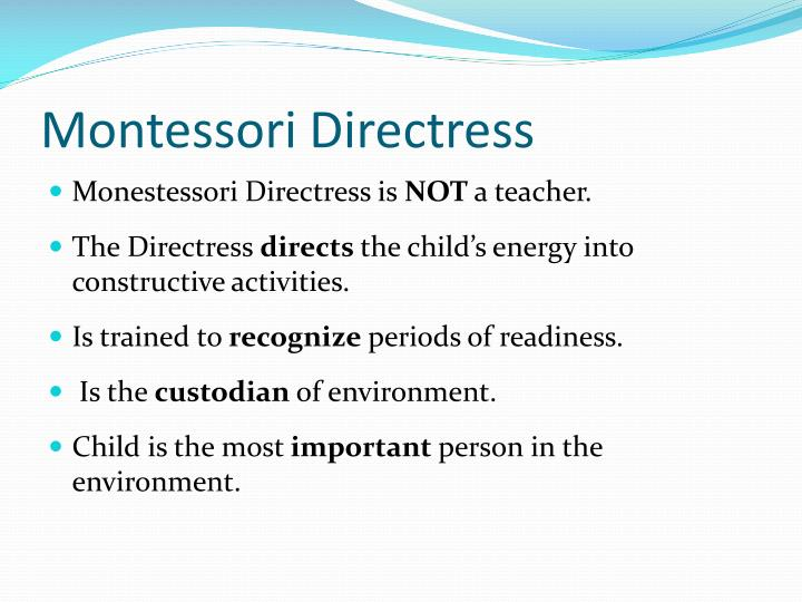 montessori directress