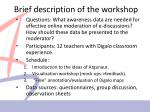 brief description of the workshop