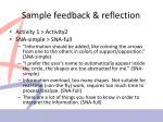 sample feedback reflection