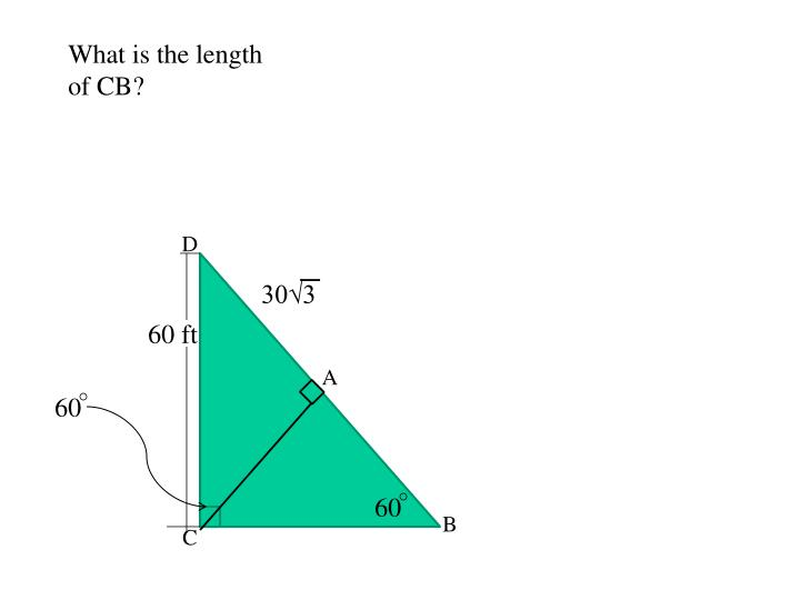 What is the length of CB?