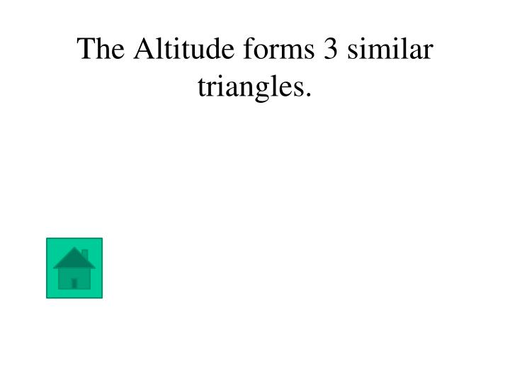 The Altitude forms 3 similar triangles.