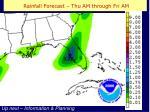rainfall forecast thu am through fri am