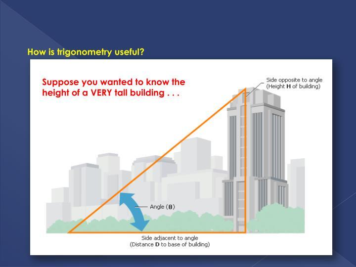 How is trigonometry useful?