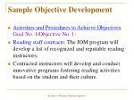 sample objective development2