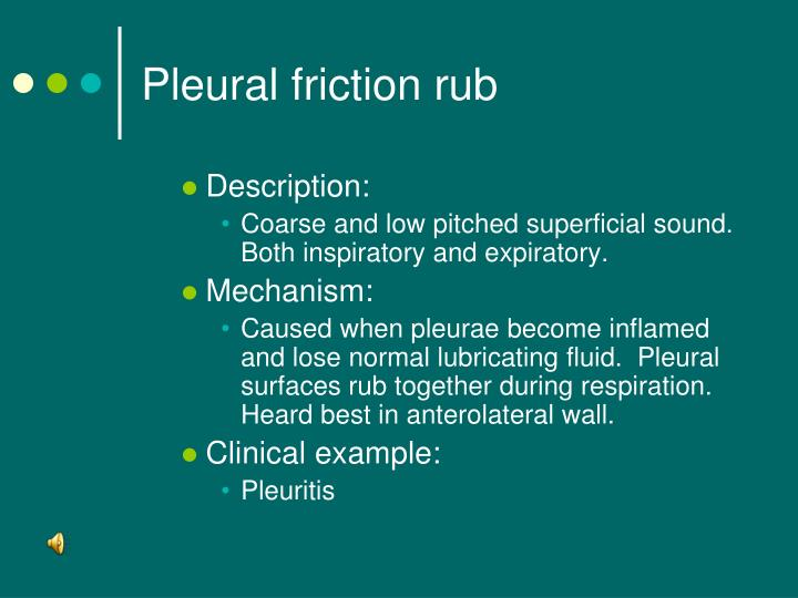 the clinical description of pleurisy Description on pleurisy clinical manifestations chest pain becomes severe, sharp, and knifelike on inspiration (pleuritic pain.