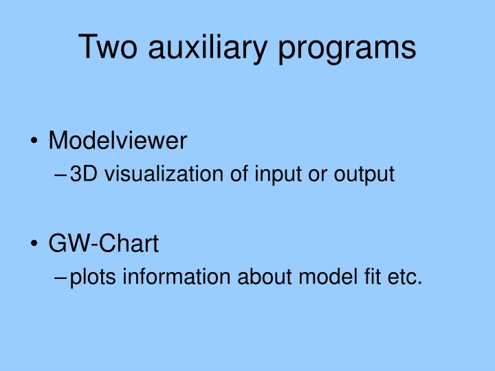 two auxiliary programs