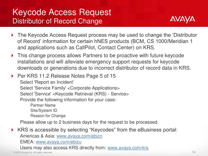 Keycode Access Request