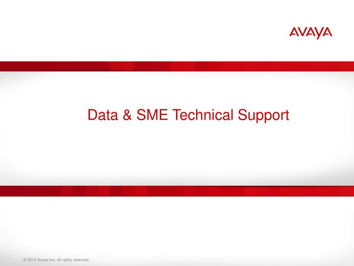 Data & SME Technical Support