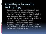 exporting a subversion working copy