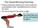 the good morning exercise