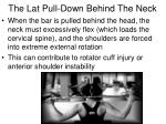 the lat pull down behind the neck