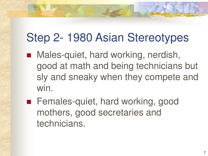 Step 2- 1980 Asian Stereotypes