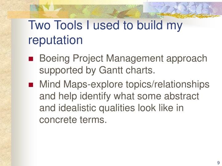 Two Tools I used to build my reputation