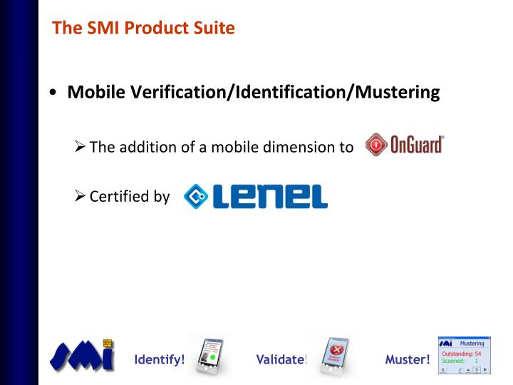 The SMI Product Suite