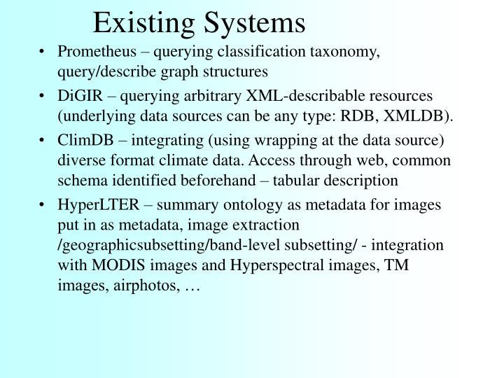 Existing Systems