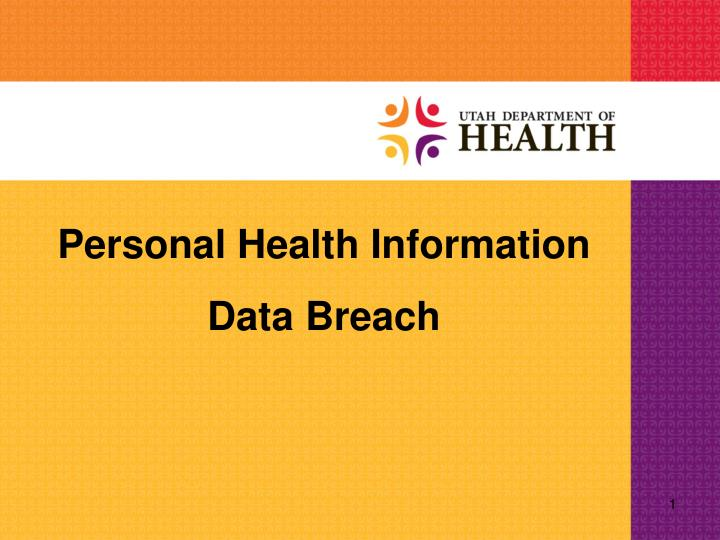 Personal Health Information