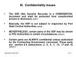 iii confidentiality issues