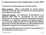 v maintenance and modification of the ssp2