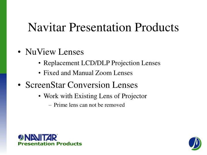 Navitar presentation products
