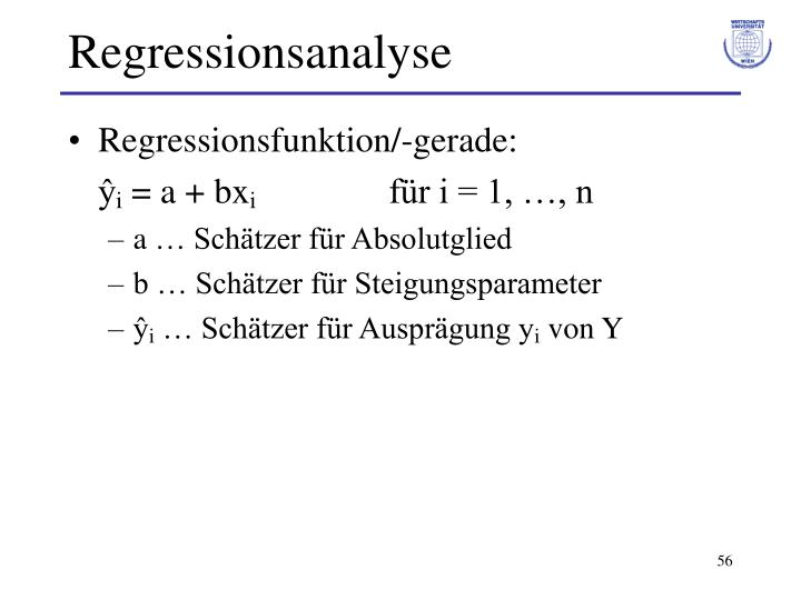 Regressionsanalyse