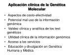aplicaci n cl nica de la gen tica molecular