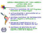 agenda hemisferica oit para america latina 2006 2015 prioridades en sst