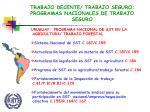 trabajo decente trabajo seguro programas nacionales de trabajo seguro5