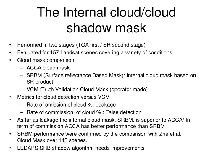 The Internal cloud/cloud shadow mask