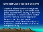 external classification systems