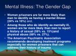 mental illness the gender gap
