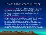 threat assessment in prison