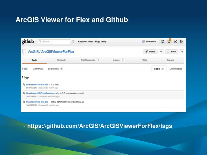 ArcGIS Viewer for Flex and Github