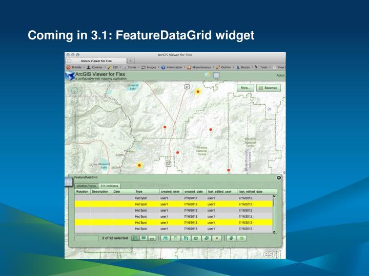 Coming in 3.1: FeatureDataGrid widget