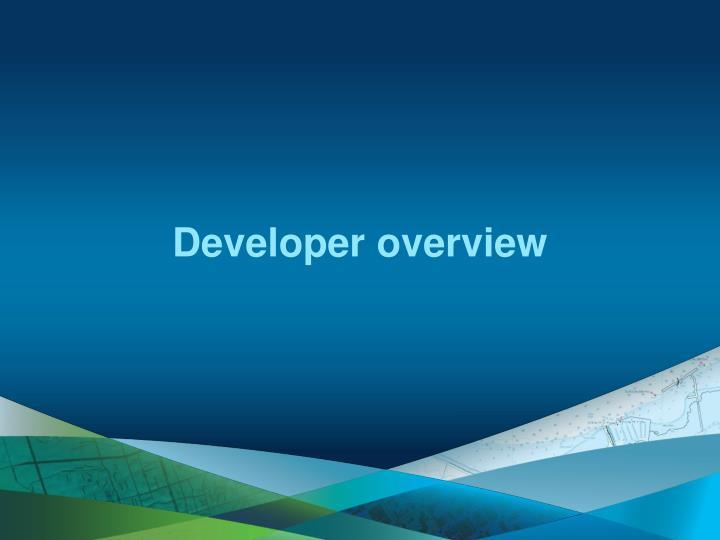 Developer overview